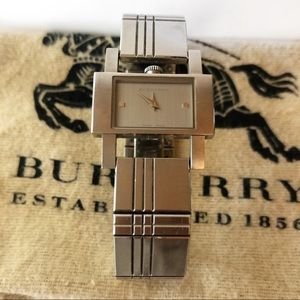 Burberry Silver Square Face Watch
